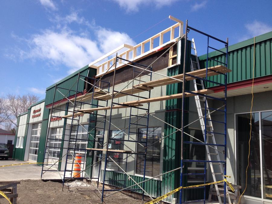 Rénovation de bâtisse commerciale
